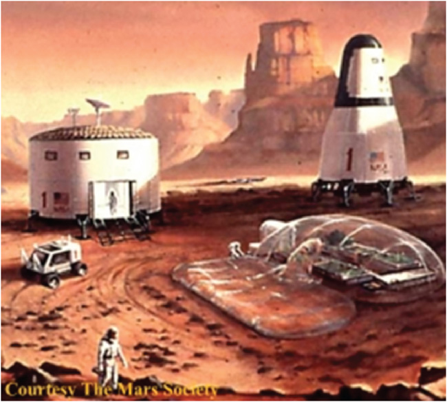 Martian Settlement - an artist's conception