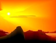 Artist's conception - the Mars landscape