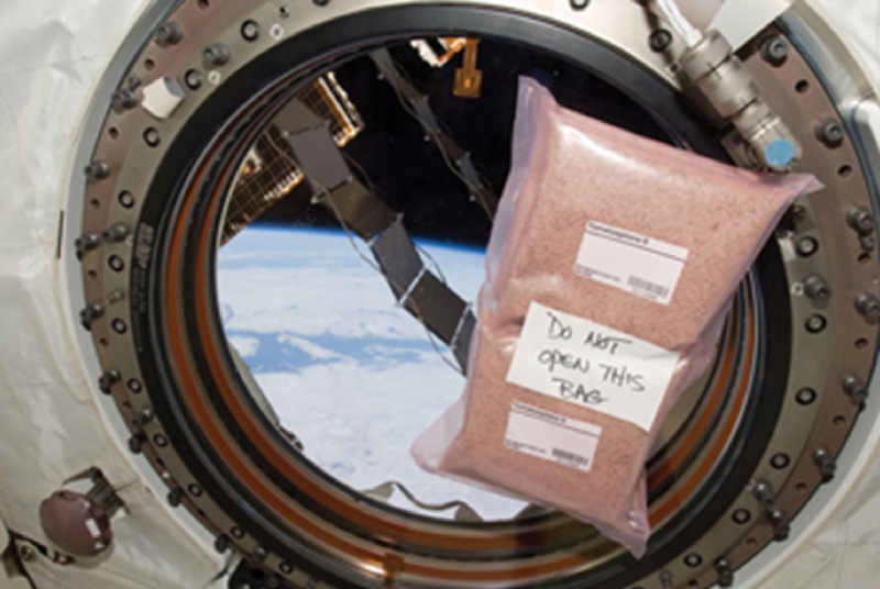 Tomatosphere seeds on board the International Space Station