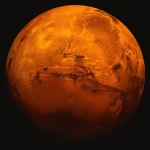 planet mars from outer space